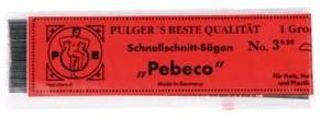 Figuurzaagjes Pebeco voor hout  nr 12 144 stuks