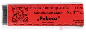 Figuurzaagjes Pebeco voor hout  nr 3 144 stuks