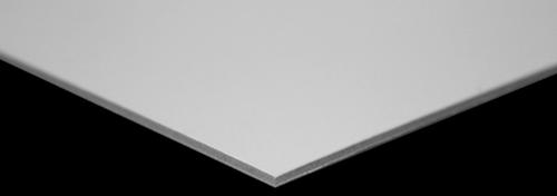 Pelkarton 2-zijdig wit 1,3  mm 80 x 110 cm per vel