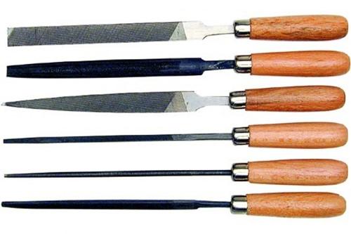 Sleutelvijlen etui 6st 4 inch met hecht