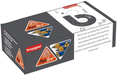 Bruynzeel Triple Grip grafiet potloden doos 72