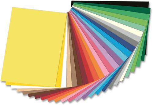 Gekleurd tekenpapier 130gr. / 50x70cm. / per vel / Rood - 020