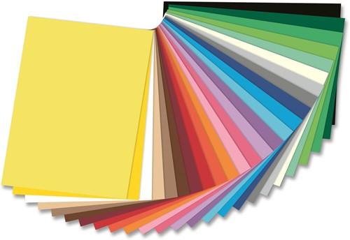 Gekleurd tekenpapier 130gr. / 50x70cm. / per vel / Zwart - 090