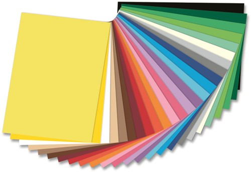 Gekleurd tekenpapier 130gr. / 50x70cm. / per vel / Licht Rood - 019