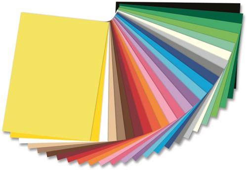 Gekleurd tekenpapier 130gr. / 50x70cm. / per vel / Middel Blauw - 034